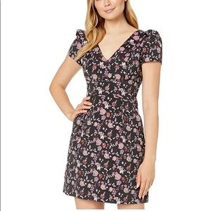 Adrianna Papell Ditsy Floral High Low Dress
